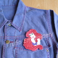 """Mermaid Princess"" Iron-on Badge"