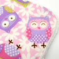 Baby Burp Cloth Owls  on Cotton Fabric Absorbent Soft Bamboo Toweling Backed