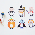 12 Halloween Lollipop holders. 6 Designs. Chuppa Chup cards. Trick or Treat Gift