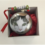 Pet Portrait on Xmas Bauble