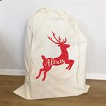 Large Custom Santa Sack Reindeer
