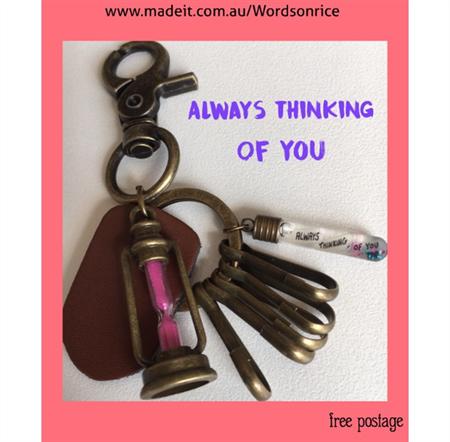 ALWAYS THINKING OF YOU keyring or bagcharm