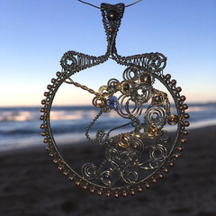 Unicorn Pendant Handmade Sterling Silver Gold Filled Wire Wrapped
