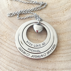 Personalised Necklace, Hand Stamped Jewellery, Name Necklace, Gift For Mum