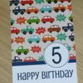 Boys Birthday Card -   cars - any age