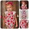SEASIDE ROMPER SET -'Christmas Star, Flutter sleeve, Baby Girl, Lace