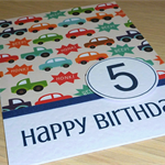 Boys Birthday Card -   cars - any age