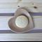 Matching heart dish and cup set - handmade stoneware