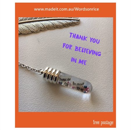 THANK YOU FOR BELIEVING IN ME bookmark