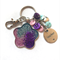 Glitter keychain with 'teacher' charm - Pink/Purple/Turquoise
