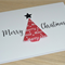 Set 3 Merry Christmas cards - origami tree