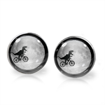 DINO GO HOME EARRINGS (SILVER)