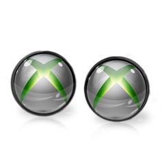 XBOX EARRINGS (GUNMETAL)