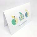 Teacher Card, Geometric Apples , No. 1 Teacher Card, TEA008