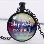 STEP ASIDE, PEASANT PENDANT (BLACK)