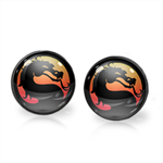 MORTAL KOMBAT EARRINGS (GUNMETAL)