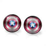 CAPTAIN AMERICA EARRINGS (GUNMETAL)