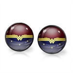 WONDER WOMAN EARRINGS (GUNMETAL)