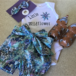 GUSSIE SET - 'Little Wildflower', Lawn, Bloomies, Hairband