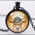 HIP COW PENDANT (BLACK)
