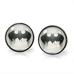 BATMAN EARRINGS (GUNMETAL)