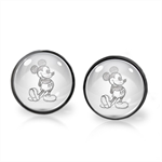 MICKEY MOUSE EARRINGS (GUNMETAL)