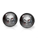 PUNISHER EARRINGS (GUNMETAL)