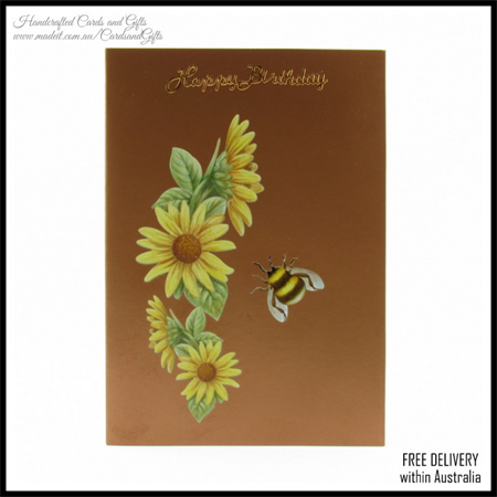 Birthday Card, Greeting Cards Happy Birthday Bumblebee, Cards and Gifts In stock