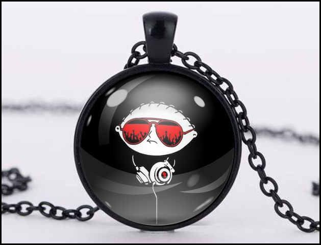 Stewie pendant black little shop of fandoms madeit stewie pendant black aloadofball