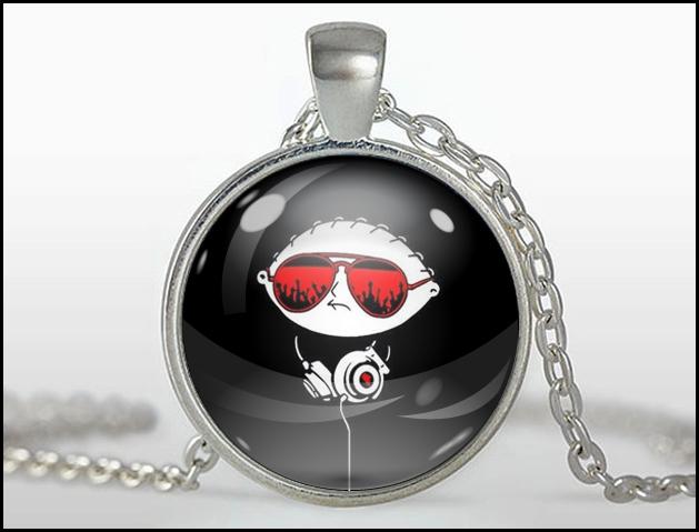 Stewie pendant silver little shop of fandoms madeit stewie pendant silver aloadofball Choice Image