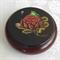 Large Round Powder Bowl with Waratah/Frog Design on Lid