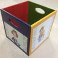 Storage Box with Quilting Ladies Painted on Sides