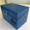 Blue Box Painted with Black Butterflies
