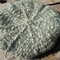 crocheted beret made from mohair, acrylic and wool.  Sage green
