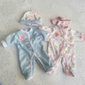 Doll with Lovely Layette + Extra Outfits