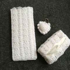 A Trio of Crocheted Purse Accessories