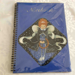 Large Notebook with Painted Fairy Design
