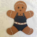 Garland of Painted Gingerbread People