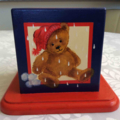 Wooden Money Box Painted with Four Seasons Teddy Bears