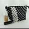 Make up bag / accessory bag / gift bag - Fleur de lis, black & white