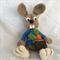 Crocheted Rodney Rabbit with Carrot Bag Amigurumi Toy