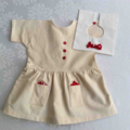 Teddy Bear Dress in Calico Dress and White Collar