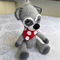 Crocheted Rocky Racoon with Red Spotted Bandana