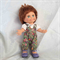 Galoob Baby Face Doll with Pretty Floral Overalls/ Hairbow and White Blouse