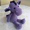 Crocheted Purple Dragon called Penelope