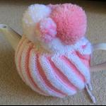 Strawberry Ripple Ice Cream Tea Cosy with Teapot