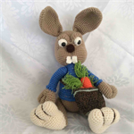 Crocheted Bunny with Carrot Bag Amigurumi Toy