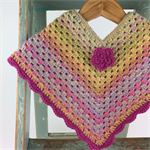 Pure Wool Crochet Poncho | 6 - 12 Months | Girl | Hand Crocheted | Ready to Post