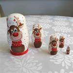 Christmas Reindeer Nesting Dolls (5 in total)