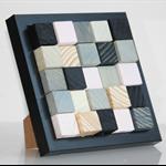 Wooden Block Art ... in black frame